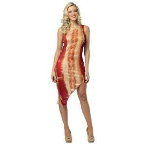 Lets Party By Rasta Imposta Bacon Dress Adult Costume / Red   One Size