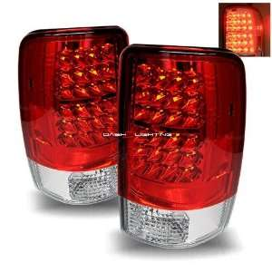 00 06 Chevy Tahoe LED Tail Lights   Red Clear Automotive