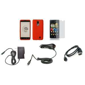 com LG Spectrum (Verizon) Premium Combo Pack   Red Silicone Soft Skin