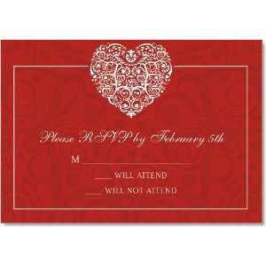 Filigree Heart Red Response Cards: Home & Kitchen