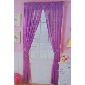 Purple Panels 84 L   Pink Swirls  Semi Sheer Curtains: Home & Kitchen