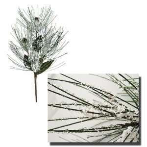 Pack of 6 Ice & Snow Pine Cone Artificial Christmas Sprays
