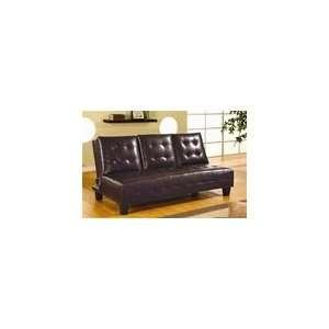 Dark Brown Vinyl Sofa Bed by Coaster   300153