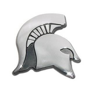 Michigan State University Spartan Head Logo Chrome Plated Premium