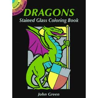 Wizards and Dragons Stained Glass Coloring Book (Dover Stained Glass