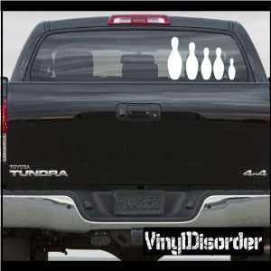 Decal Set Sports Bowling Stick People Car or Wall Vinyl Decal Stickers