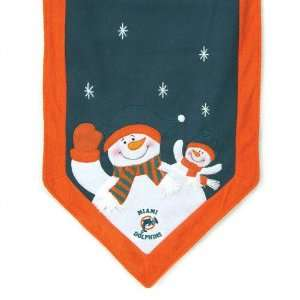 Miami Dolphins Snowman Table Runner