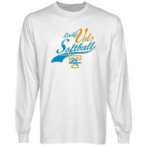Tennessee Lady Vols White Softball Long Sleeve T shirt