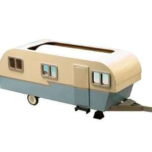 Dollhouse Miniature Vintage Travel Trailer: Toys & Games