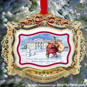 2011 Official White House Christmas Ornament   President