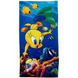 Looney Tunes Tweety Diving Fun Beach Towel