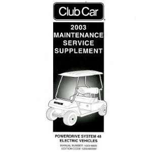 Car Power Drive System 48 Electric Factory Service Manual Supplement