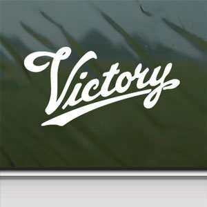 VICTORY MOTORCYCLE White Sticker Car Vinyl Window Laptop