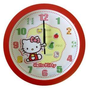 Round Wall Clock   Sanrio Hello Kitty Red Wall Clock