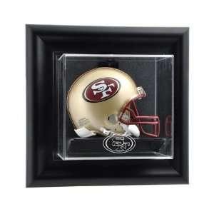 San Francisco 49ers Framed Wall Mounted Logo Mini Helmet