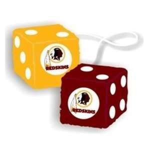 NIB Washington Redskins NFL Fuzzy Dice