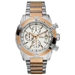 Silver Stainless Steel Quartz Watch with White Dial Guess Watches