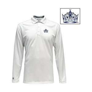 Antigua Los Angeles Kings Victor Long Sleeve Polo Shirt   LOS ANGELES