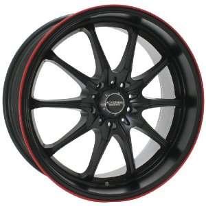 Kyowa Racing 656 Trek 10 Flat Black and Red Stripe Wheel with Painted