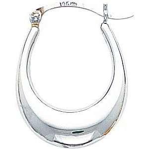 White gold Hoop Earrings Polished Jewelry New W Jewelry