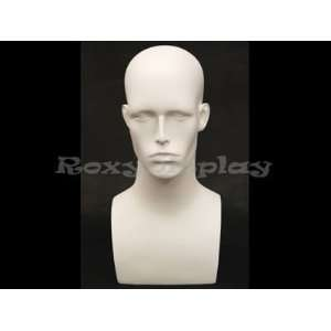 (MD EraW2) Roxy Display Matte White Male Mannequin Head