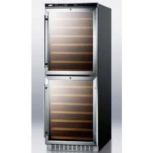 Swc1875 108 Bottle Wine Cellar   Black Cabinet / Stainless Steel Trim