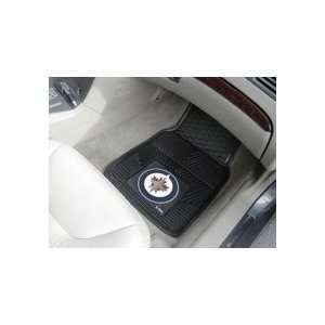 Winnipeg Jets Car Floor Mats 18 x 27 Heavy Duty Vinyl Pair