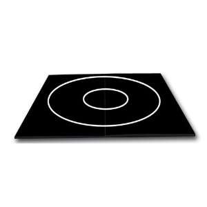 10 x 10   Black   Premium Wrestling and Martial Arts Mat, White