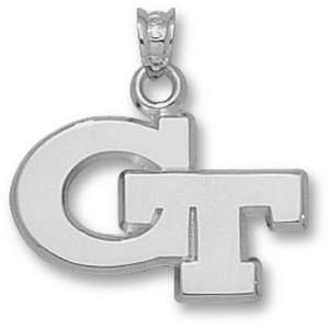 Yellow Jackets 5/8 GT Pendant   10KT White Gold Jewelry Sports