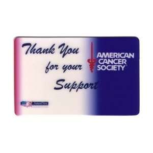 Collectible Phone Card American Cancer Society Thank You