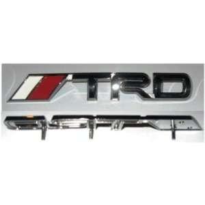 TRD Black Chrome Grille Emblem (Gun Metal Color) Automotive