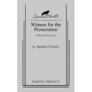 Witness for the Prosecution [Paperback] Agatha Christie