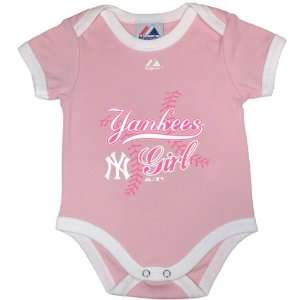 New York Yankees Newborn Pink Lil Princess Creeper