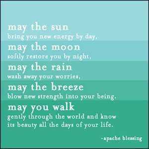 May The Sun Bring   Apache Blessing Card Toys & Games