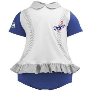 Los Angeles Dodgers Baby Girl Ruffled Diaper Dress Sports