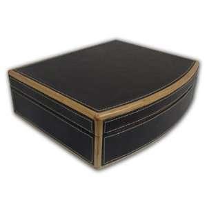 Elegant Dark Brown Jewelry Box With Mirror