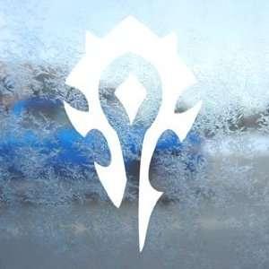 Warcraft Horde White Decal Car Laptop Window Vinyl White