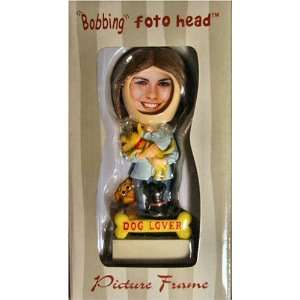 Dog Lover Bobbing Foto Head Picture Frame: Home & Kitchen