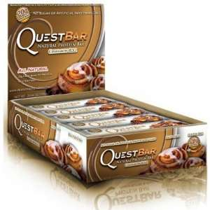 Quest Bar  Natural Protein Bar, Cinnamon Roll, 2.12oz each