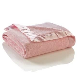 Cuddle Fleece Dots and Satin Baby Security Blanket, White Colorado