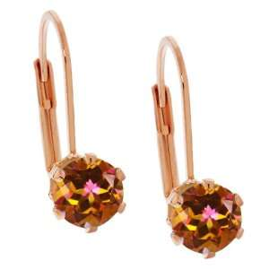 1.90 Ct Round Shape Ecstasy Mystic Topaz Rose Gold Plated
