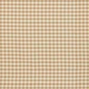 Small Check Toffee Fabric By the Yard  Ballard Designs: