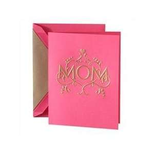 Hand Engraved Going for Gold Mothers Day Greeting Card