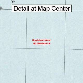 USGS Topographic Quadrangle Map   Hog Island West