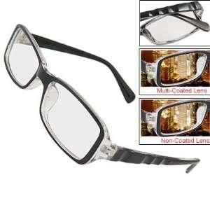 Como Men Single Bridge Plastic Black MC Lens Plain Glasses