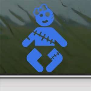 Zombie Baby Girl Blue Decal Car Truck Window Blue Sticker