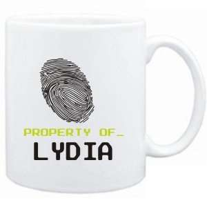 Mug White  Property of _ Lydia   Fingerprint  Female