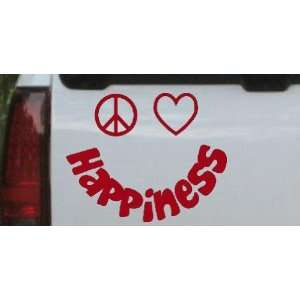 Peace Love Happiness Smiley Christian Car Window Wall Laptop Decal