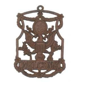 Cast Iron Eagle Welcome Sign Garden Decor New Hanging Wall