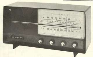 1964 PANASONIC 740 AM FM RADIO SERVICE MANUAL SCHEMATIC REPAIR DIAGRAM